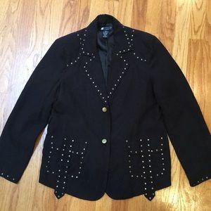 Studded Black Carole Jacket - Petite PM